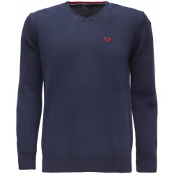 Sweter V-Nec Fred Perry - Navy