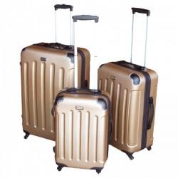 Komplet 3 walizek podróżnych LEX Travel ULTRALEKKA - Gold