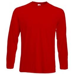Koszulka Fruit of the Loom VALUEWEIGHT LONG SLEEVE - Red