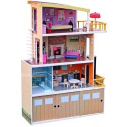 Domek dla lalek drewniany HILARY