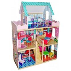 Domek dla lalek drewniany JENNIFER