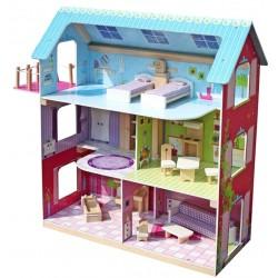 Domek dla lalek drewniany LESLIE