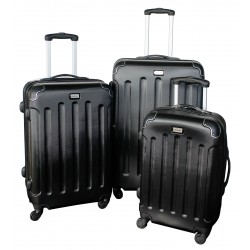 Komplet 3 walizek podróżnych LEX Travel ULTRALEKKIE - Black (MC3056)