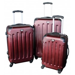 Komplet 3 walizek podróżnych LEX Travel ULTRALEKKIE - Silver (MC3001)