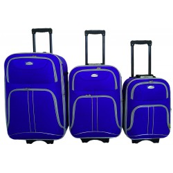 Komplet 3 walizek podróżnych LEX Travel ULTRALEKKIE - Blue (MC3050)