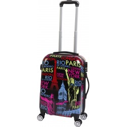 Walizka podróżna 40x23x55 LEX Travel ULTRALEKKIE - Black (MC3069-small)