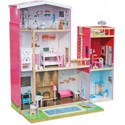 Domek dla lalek drewniany ELEN