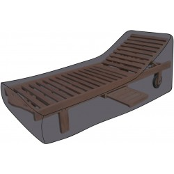 Pokrowiec na leżak ogrodowy Deluxe 200 x 75 x 45 cm - MC2041