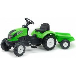 Traktor na pedały z przyeczepką FALK Garden Master - green (2057J)
