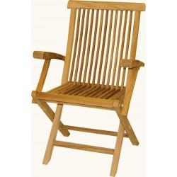 Krzesło ogrodowe z drewna tekowego - DF09