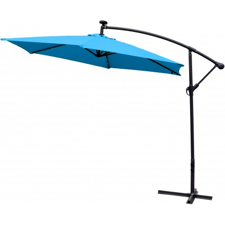 Parasol ogrodowy 300 cm aGa LED EXCLUSIVE 2017 - Dark Brown