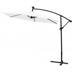 Parasol ogrodowy 300 cm aGa LED EXCLUSIVE 2017 - White