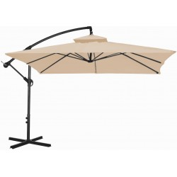 Parasol ogrodowy 250 cm aGa CUBE EXCLUSIVE 2017 - Coffee