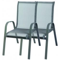 2x Krzesło ogrodowe ALU STAPEL MC MC330867 - grey