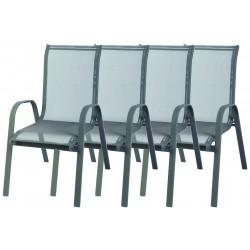 4x Krzesło ogrodowe ALU STAPEL MC MC330867 - grey