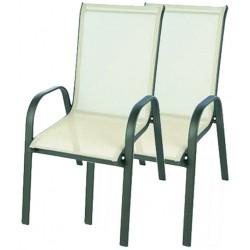 2x Krzesło ogrodowe ALU STAPEL MC MC330868 - beige