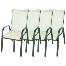 4x Krzesło ogrodowe ALU STAPEL MC MC330868 - beige