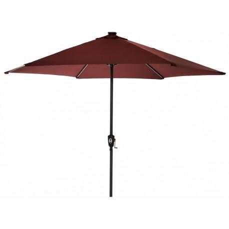 Parasol ogrodowy SOLAR LED+USB 300 cm aGa - Dark Red