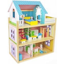 Domek dla lalek drewniany NAOMI