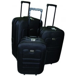 Komplet 3 walizek podróżnych LEX Travel ULTRALEKKIE - Black (MC3030)
