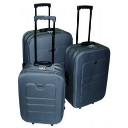 Komplet 3 walizek podróżnych LEX Travel ULTRALEKKIE - Szara (MC30031)