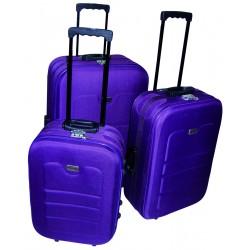 Komplet 3 walizek podróżnych LEX Travel ULTRALEKKIE - Lila (MC30032)