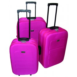 Komplet 3 walizek podróżnych LEX Travel ULTRALEKKIE - Pink (MC30033)