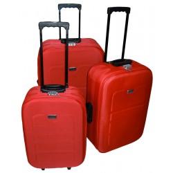 Komplet 3 walizek podróżnych LEX Travel ULTRALEKKIE - Pink (MC3046)