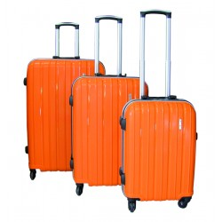 Komplet 3 walizek podróżnych LEX Travel ULTRALEKKIE - Orange (MC3059)