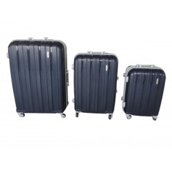 Komplet 3 walizek podróżnych LEX Travel ULTRALEKKIE - Dark blue (MC3064)