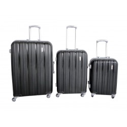 Komplet 3 walizek podróżnych LEX Travel ULTRALEKKIE - Black (MC3065)