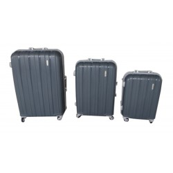Komplet 3 walizek podróżnych LEX Travel ULTRALEKKIE - Dark Grey (MC3066)
