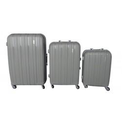 Komplet 3 walizek podróżnych LEX Travel ULTRALEKKIE - Beige (MC3067)
