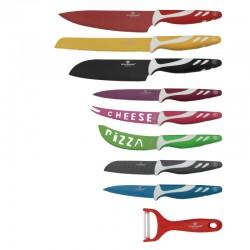 Zestaw 9 kolorwych noży kuchennych Blaumann