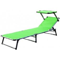 Leżak z daszkiem ogrodowy plażowy GARDEN KING - MC372310LG Lime Green