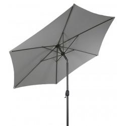 Parasol ogrodowy z regulacją kąta 300 cm MOCNY SOLIDNY - LINDER EXCLUSIVE Light Grey MC2100SG