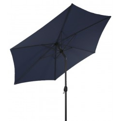 Parasol ogrodowy z regulacją kąta 300 cm MOCNY SOLIDNY - LINDER EXCLUSIVE Blue MC2100BL
