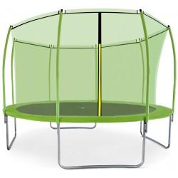 Trampolina ogrodowa aGa SPORT FIT 366 cm 12ft 2018 -  z siatką wewnętrzną Light Green