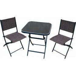 Zestaw mebli stolik + 2 krzesła SKŁADANE - BISTRO SET