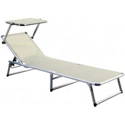 Leżak z daszkiem ogrodowy plażowy GARDEN KING - aGa MC372310B Beige