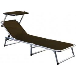Leżak z daszkiem ogrodowy plażowy GARDEN KING - aGa MC372310SB Brown