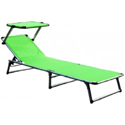 Leżak z daszkiem ogrodowy plażowy GARDEN KING - aGa MC372310LG Lime Green