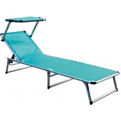 Leżak z daszkiem ogrodowy plażowy GARDEN KING - aGa MC372310P Petrol