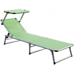 Leżak z daszkiem ogrodowy plażowy GARDEN KING - aGa MC372310GG Yellow Green