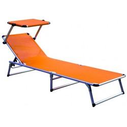 Leżak z daszkiem ogrodowy plażowy GARDEN KING - aGa MC372310O Orange