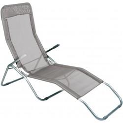 Leżak ogrodwo plażowy SIESTA - aGa MC372171G Grey