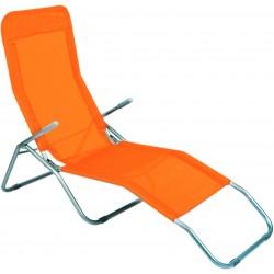 Leżak ogrodwo plażowy SIESTA - aGa MC372171O Orange
