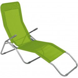 Leżak ogrodwo plażowy SIESTA - aGa MC372171GG Yellow Green