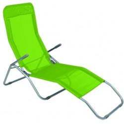 Leżak ogrodwo plażowy SIESTA - aGa MC372171LG Lime Green