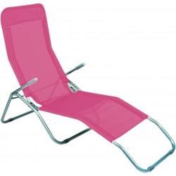 Leżak ogrodwo plażowy SIESTA - aGa MC372171PI Pink